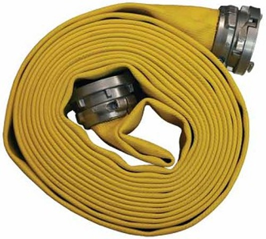 rolled fire hose