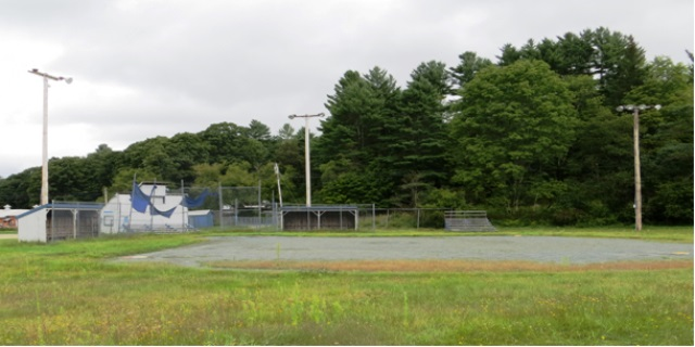 Elliott Field before it was moved from the raceway grounds