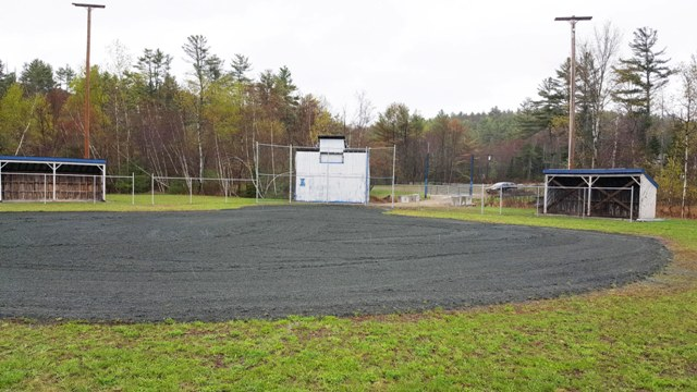 infield and dugouts