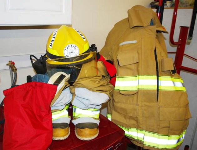 shiny new fire fighting clothing