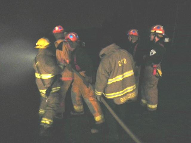 night training on hose