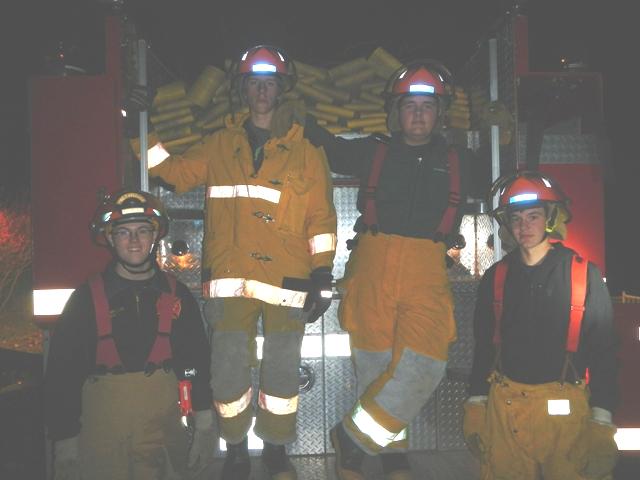 Night training on truck