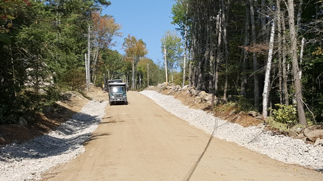 rock lined ditches