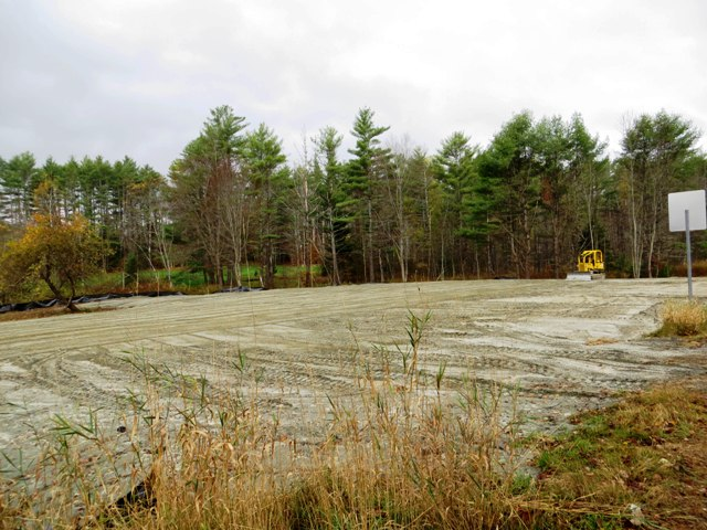 earthwork at field