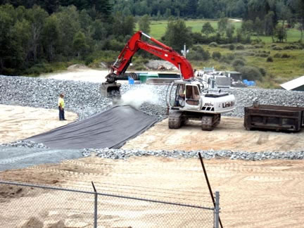 Installation of infiltration beds at wastewater plant