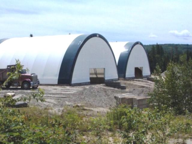 salt sheds side view
