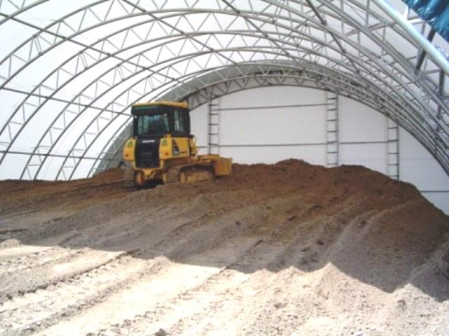 salt sheds interior view