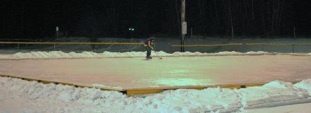 hockey player on Williams Field Rink