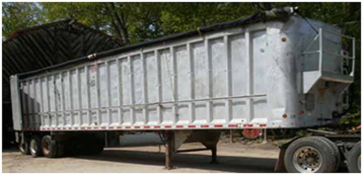 trailer to hold recycled materials