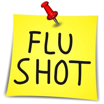 flue shot sticky note
