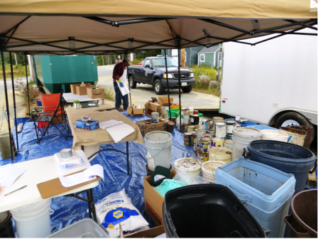 collected and sorted waste products